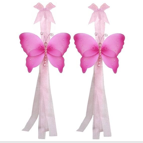 Butterfly Tie Backs Decorations Nylon Butterflies Tieback