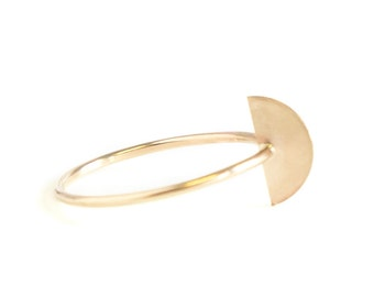 Modern Scale Stacking Ring - Recycled Metal