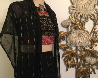 Fall sale Gypsy dress beaded set size x small maxi skirt and top lace up top crop top and skirt indian dress