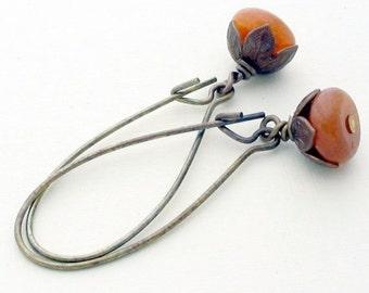 SALE 20% off Beaded Drop Earrings, Autumn Earrings, Fall Earrings, Dangle Earrings, Beaded Earrings, Fall Jewelry, Gifts for Her, Boho dangl