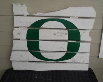 Oregon Ducks  -  Oregon State Reclaimed Wood Sign