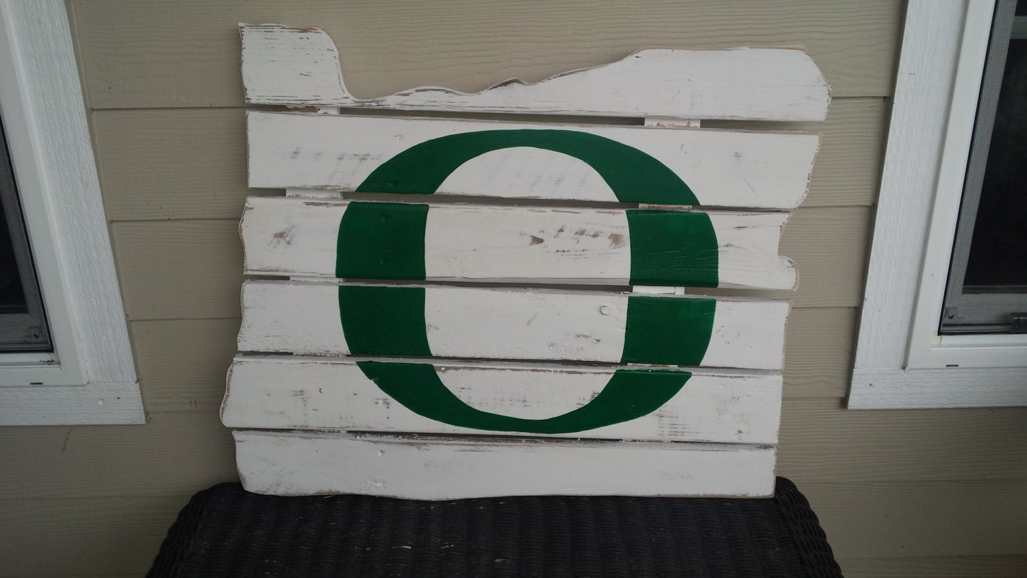 Oregon Ducks Oregon State Reclaimed Wood Sign