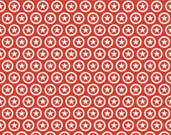 Lucky Star - By Zoe Pearn - Fabric From Riley Blake - Red - (C4831) - 1 Yard - 7.95 Dollars