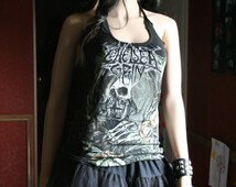 Chelsea Grin tank top halter neck upcycled small