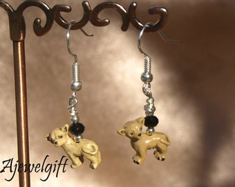 Fawn/Tan Chihuahua Earrings 13044