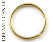 10mm 18g 22K Gold Seamless Hoops - Cartilage hoop earrings in 18 gauge solid 22K yellow gold
