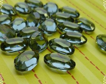 Eight Vintage Jewels - Indian Sapphire 12x8mm Swarovski Crystal Glass Jewels (55-10B-12)