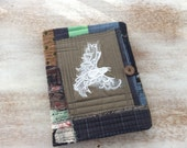 Taking Flight Journal - COMPOSITION Notebook Book Cover - urban gypsy emo Lace Bird
