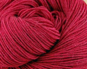 "MYS 622 ""Candy Apple "" - 100 grams 400 yards - 60/20/20 Superwash Merino, Yak and silk"