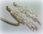 Gold Toned Icicle Cartilage Chain Earrings - Reserved for paulabornstein4