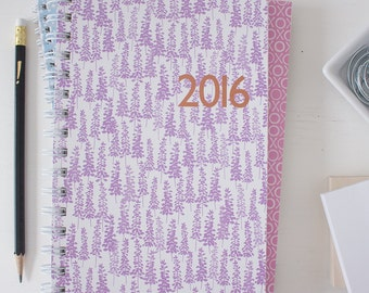 2016 weekly planner - from July to December