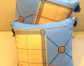 Sunny Day Pillows with Tassels - 16""