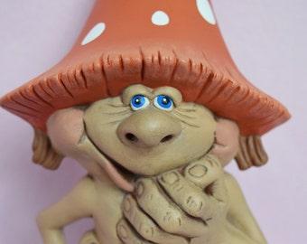Ceramic Mushroom - Yard Art - Wedding Decor - Large - Goofy - Garden Decor - Polka Dots - Ready to ship - Gift - Wedding Gift - Weatherproof