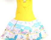 r e s e r v ed ! 1980's Beach Bunny 3T Dress // Sleeveless Knit Dress Toddler Clothing // Vintage girl's dress // california dress // 80s