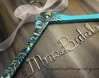 Custom Dress Hangers - Bridal Hangers - Personalized Hangers - Name Hangers - Wedding Dress Hangers - Bridal Accessories - Last Name Hanger