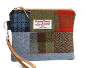 Harris Tweed - One-of-a-Kind - Wristlet - Patchwork - Check - Tartan - Purse