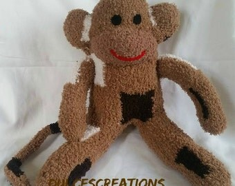Jacobean the sock monkey ready to ship