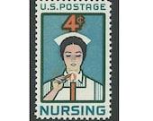 4c NURSING ISSUE 1961.. Pack of 10 Vintage Unused US Postage stamps. Hospital gift, Get well soon, Angels of mercy, Nursing student