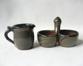 Pottery Serving Set Clearance Priced