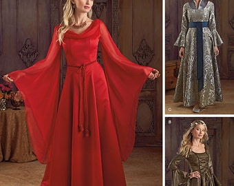 Simplicity 1045-Lord of the Rings, Maid Marian Ren Faire Costume Dress Plus size
