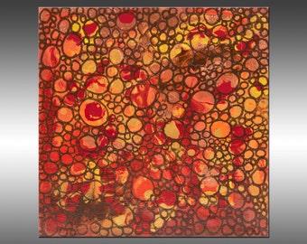 Dimension 17 - 8x8 Inches, Original Abstract Painting, Geometric Art, Canvas Wall Art Contemporary Canvas Art, Portland, Oregon