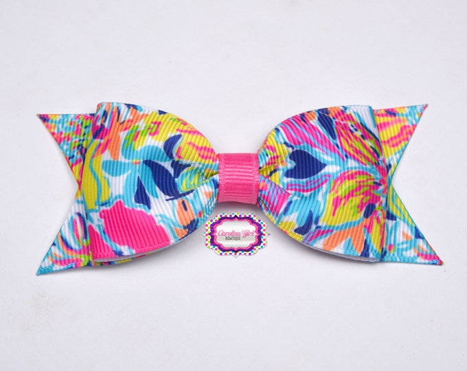 "Besame Mucho ~ 3.5"" Hairbow ~ Lilly Inspired ~ Small Hair Bow ~ Girls Barrette ~ Toddler Bow ~ Hair Clip ~ Girls Hair Bow"