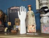 Vintage White Porcelain Glove Mold Hall China Company