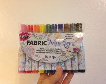 Tulip Fabric Markers Pens RAINBOW 10 piece *