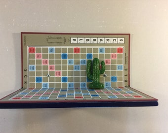 Upcycled Scrabble Boardgame Shelf