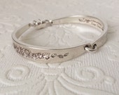 Tapered Floral Spoon Handle Bracelet with Magnetic Clasp