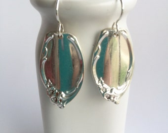 Floral Oval Spoon Handle Earrings