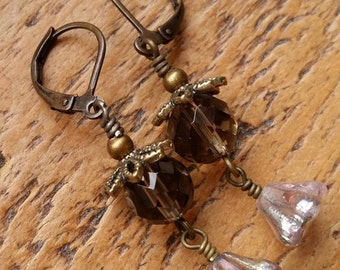 Rachel...Lampwork vintage style earrings by Pixie Willow Designs