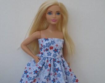 Clothes for Curvy Barbie Fashionista Doll Dress