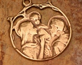 Holy Family Pendant in Bronze, 212br
