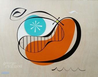 Eye of Orca. -original painting shipped free