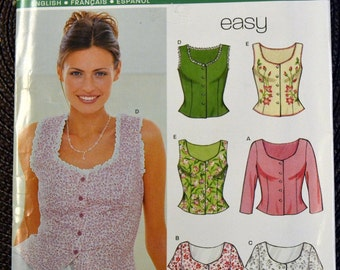 Sewing Pattern New Look 6945 Misses' Blouses  Bust 30- 38 inches Uncut Complete