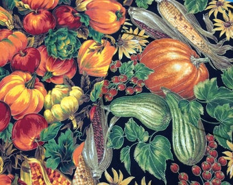 Fall Harvest Remnant Fabrics - 17 x 55 and 14 x 56