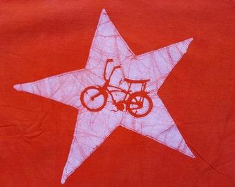 XL Unisex batik retro orange stingray bike bicycle shirt Extra Large