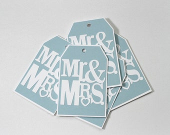 Gift Tags-Mr.&Mrs. Tags-Paper Tags-Wedding Tags-Blue Wedding Tags-Thank You Tags-Bridal Shower Tags-Mr. and Mrs. Wedding Tags