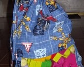 Transformers peek a boo toy sack.