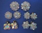Earrings DeStash 5 pairs Vintage Aurora Bead Clips