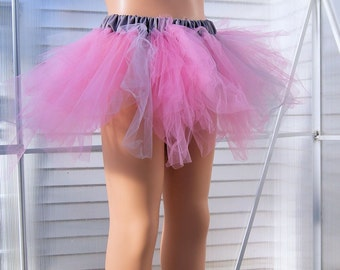 Baby Pastel Pink and Silver Trashy TuTu Skirt Child Size 4-8 MTCoffinz - Ready to Ship