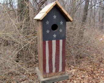 Birdhouse Primitive Flag Fully Functional