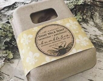 Goat Milk Soap | Bar Soap | Patchouli and Lavender Soap | Gift Idea Under 10 | Homemade Soap | Oatmeal Soap | Artisan Soap | Gentle Soap