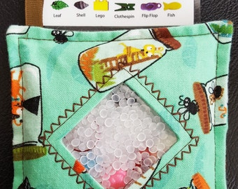I Spy Bag - Mini with SEWN Word List and Detachable PICTURE LIST- Bug Collection