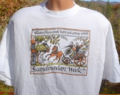 vintage 90s t-shirt RAMBLEWOOD festival folk music dance scandinavian week tee shirt XL 2xl xxl