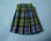 Blythe School Girl Plaid Pleated Skirt for Pullip and Vintage Skipper Too!