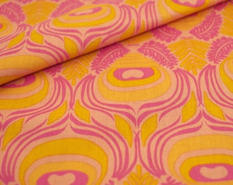 Tail Feather print in pink from the Affinity Collection by Jessica Swift for Blend Fabrics - fabric by the yard