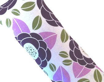 Eye Pillow, Eye Mask, Hot Cold Microwave Pack -  Floral, Joel Dewberry Bloom Purple, Flaxseed Lavender - READY to SHIP