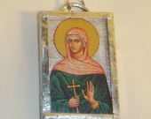 St Martha of Bethany Pendant Sister of Mary & Lazarus inv1679
